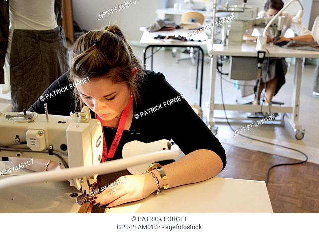 FASHION DESIGNER, FASHION AND DESIGNING, SERVICE INDUSTRY, 41ST OLYMPIAD OF METIERS IN BRITTANY, BREST, FINISTERE 29, FRANCE