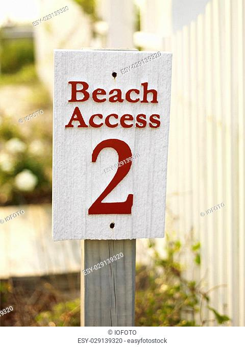 Sign for public beach access number two