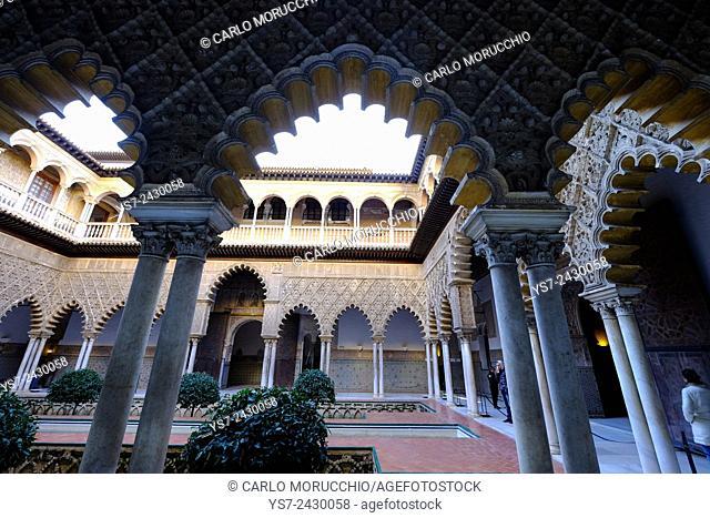 Palacio del Rey Don Pedro, Real Alcazar, Sevilla, Andalusia, Spain