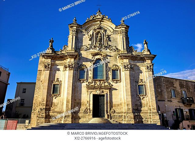 Chiesa di San Francesco d'Assisi (Saint Francis church), Matera, Italy. Matera is a city and a province in the region of Basilicata, in Southern Italy