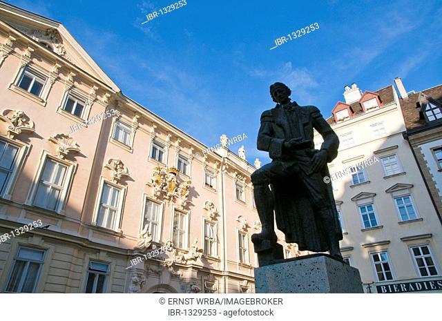 Lessing monument, Judenplatz, Jewish Square, Vienna, Austria, Europe