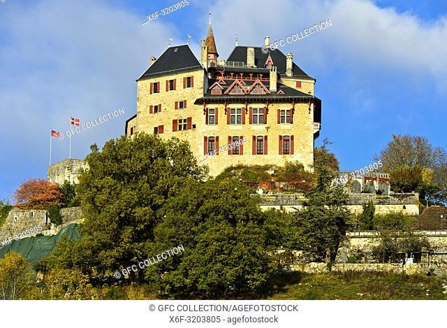 Castle of Menthon-Saint-Bernard, Château de Menthon, Menthon-Saint-Bernard, Haute-Savoie, France