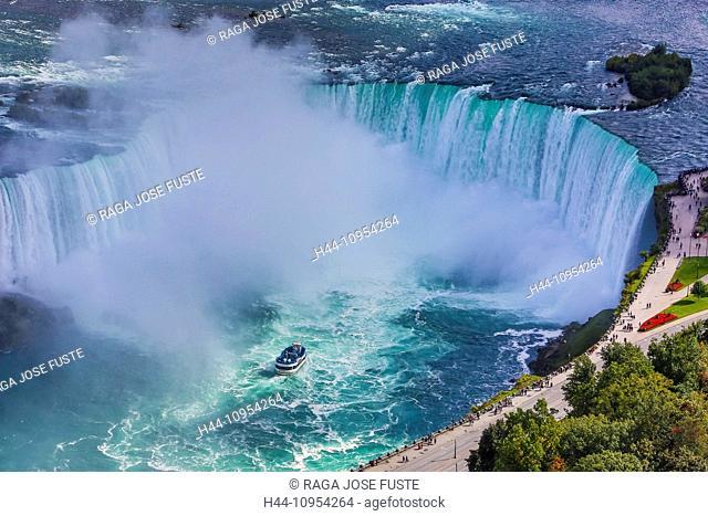 Canada, North America, Falls, Niagara, Ontario, landmark, river, terrace, touristic, tourists, travel, water, water fall, famous, aerial