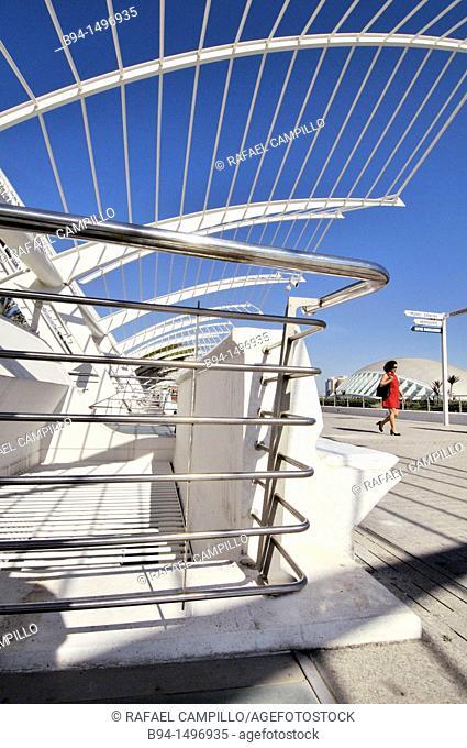 City of Arts and Sciences by Santiago Calatrava, Valencia, Comunidad Valenciana, Spain