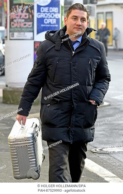 Mutlu Gunal, lawyer of the defendant Safia S., arrives to the Higher Regional Court (OLG) in Celle, Germany, 26 January 2017