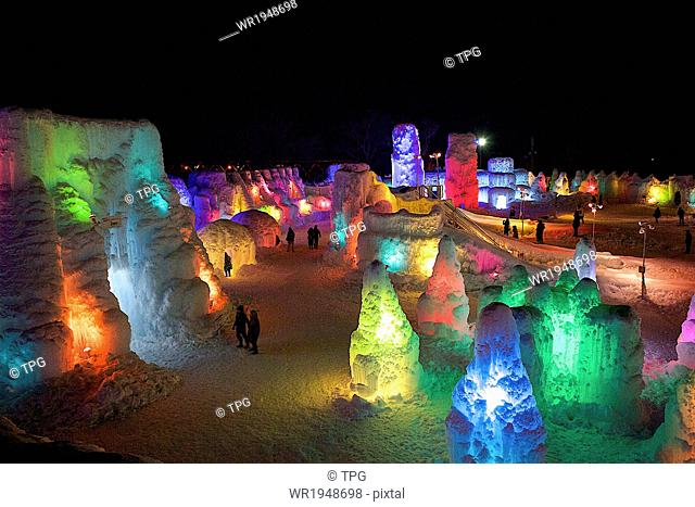 Lake Shikotsu Ice Festival, Chitose, Hokkaido, Japan
