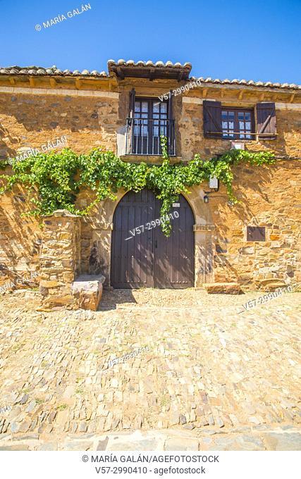Facade of traditional house. Castrillo de los Polvazares, Leon province, Castilla Leon, Spain
