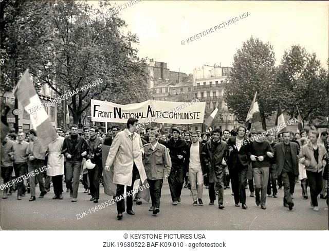 May 22, 1968 - Led by Jean-Louis Tixier Vigancourt and Colonel Thomaso (Credit Image: © Keystone Press Agency/Keystone USA via ZUMAPRESS.com)
