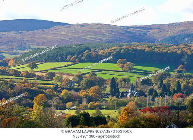 Autumn landscape, Powys, Wales, UK