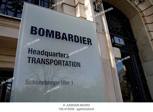07.04.2007, Germany, Berlin:Der new European head office of the Canadian large-scale enterprise bombardier Transportation GmbH is since 2005/2006 in the...