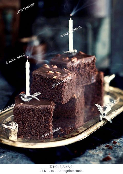 Chocolate cake for children's birthdays