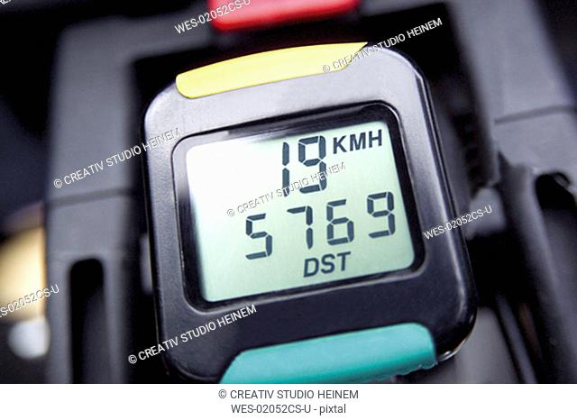 speedometer of a bicycle