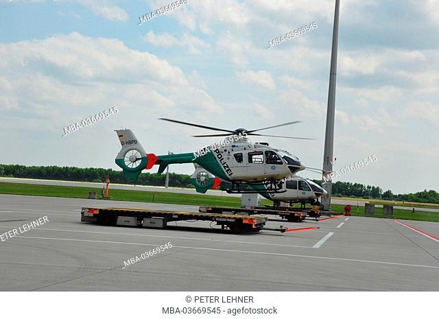 Germany, Bavaria, Munich, airport, police helicopter