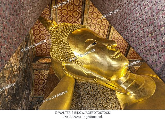Thailand, Bangkok, Ko Ratanakosin Area, Wat Pho, Reclining Buddha