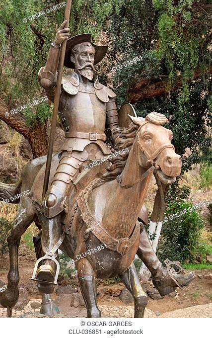 Monument to Don Quixote and Sancho Panza, Guadalajara, Mexico, America