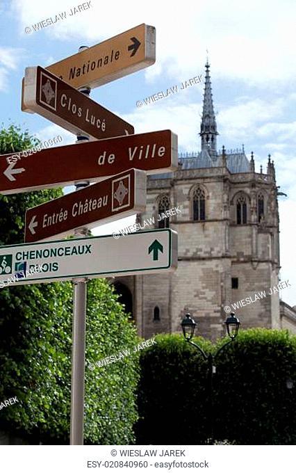 Chapel St. Hubert where Leonardo Da Vinci is buried in Amboise, France