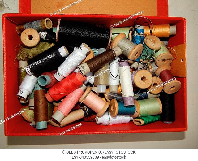 Textile industry details of clothing and tools
