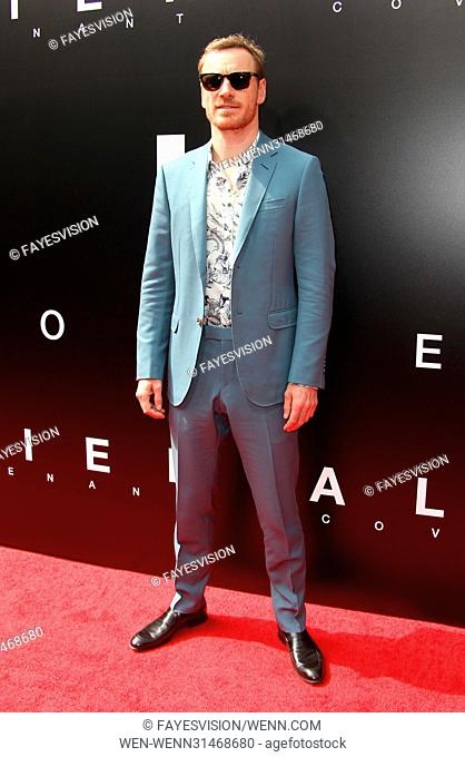 Sir Ridley Scott Hand and Footprint Ceremony Featuring: Michael Fassbender Where: Hollywood, California, United States When: 18 May 2017 Credit:...