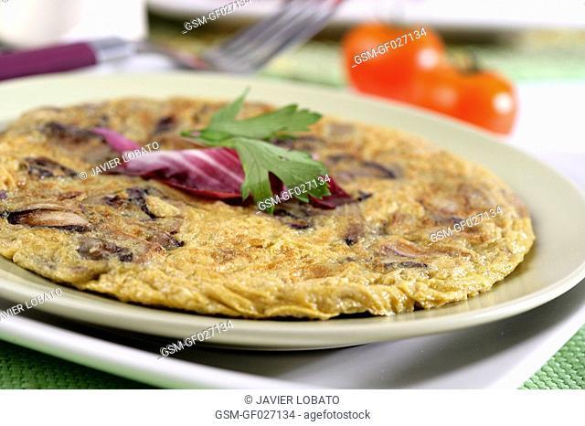 Chicory leaves omelette