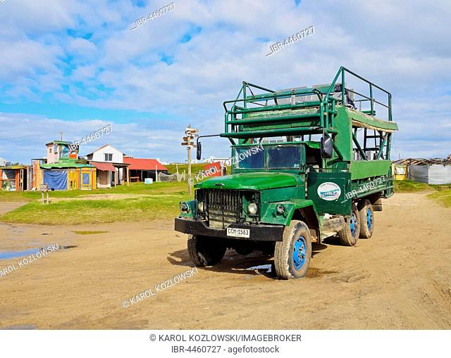 Special truck for reaching the hamlet, Cabo Polonio, Rocha Department, Uruguay