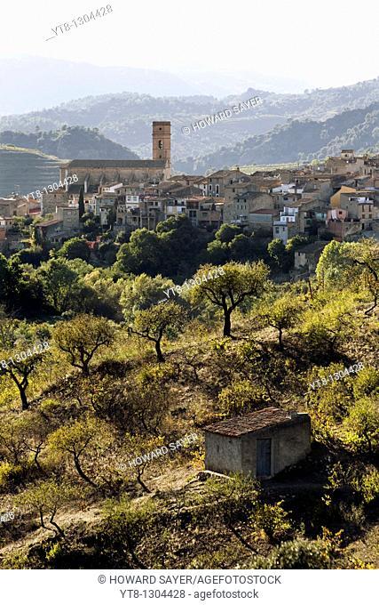 The village of Poboleda in the Priorat wine region of Catalonia, Spain