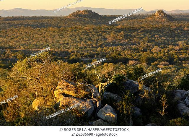 Scenic view. Southern Kruger National Park. Mpumalanga. South Africa