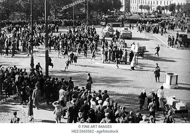 The Soviet Red Army in Riga, 1940, 1940
