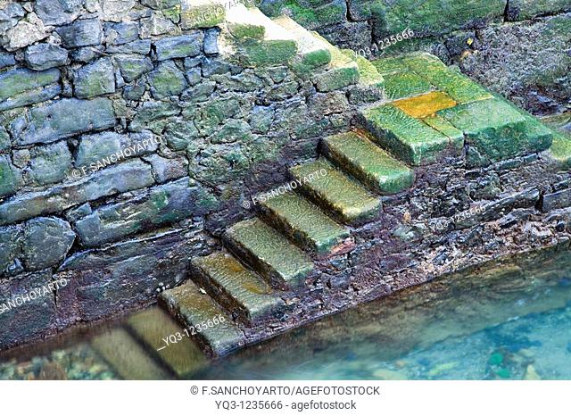 Stairs at port, Castro Urdiales, Cantabria, Spain