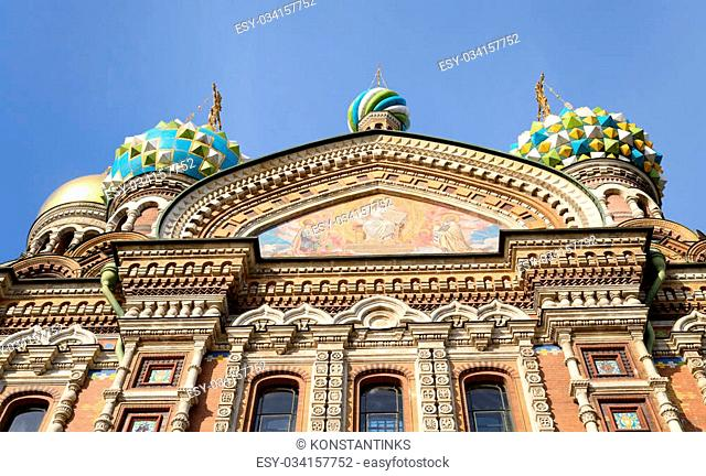 Savior on Spilled Blood Cathedral ( Spas na Krovi ) in St.Petersburg, Russia