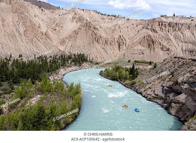 Canada, British Columbia, Chilcotin, Chilcotin River, rafters, Farwell Canyon