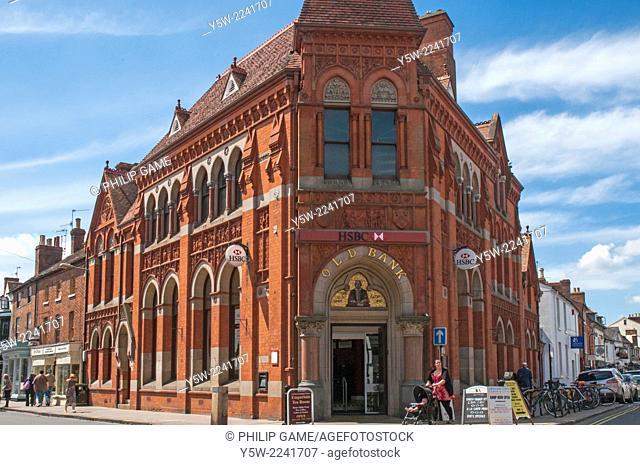 Victorian-era bank in Stratford-upon-Avon, England