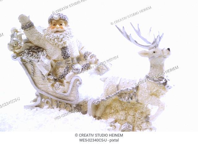 Christmas decoration, Santa Claus on reindeer