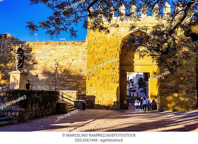 Almodóvar gate has Arab origin, rebuilt in the fourteenth century. Córdoba, Andalusia, Spain, Europe