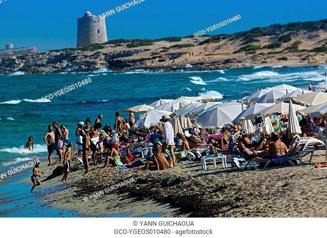 Beach Of Cavallet, Ibiza, Balearic Islands, Spain