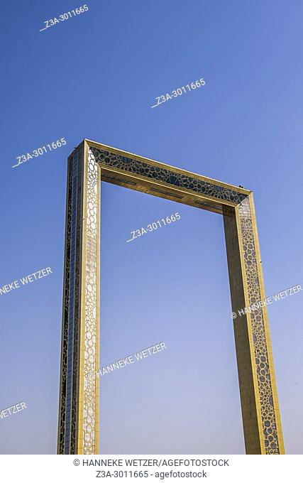 """The Dubai Frame, which was finished in January 2018, is an architectural landmark in Zabeel Park, Dubai. It has been described The Guardian newspaper as """"""""the..."""