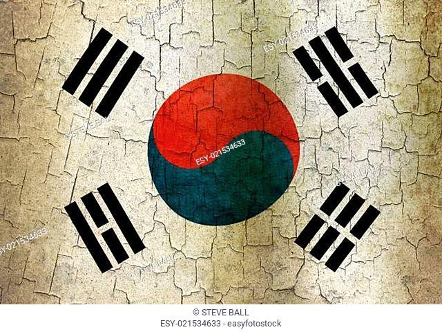 Grunge South Korea flag