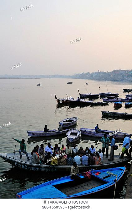 View of the Ganges river in the morning