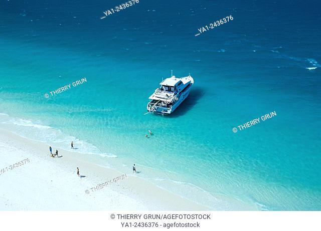 Australia, Queensland, Whitsunday island, Whitehaven beach aerial view