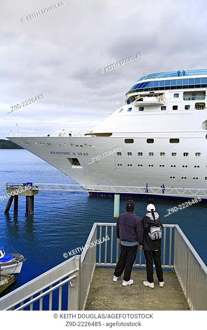 Cruise ship 'Rhapsody of the Seas' at the cruise ship terminal, Prince Rupert, BC
