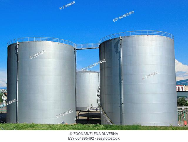 Oil tanks at Vernier, Genva, Switzerland