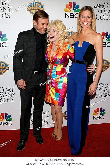"""Stars and producers of """"Coat of Many Colors"""" Featuring: Ricky Schroder, Dolly Parton, Jennifer Nettles Where: Hollywood, California"""