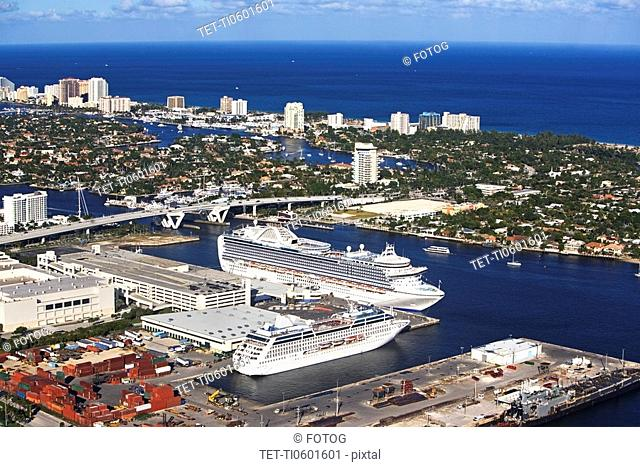 Cruise ship docked in Florida