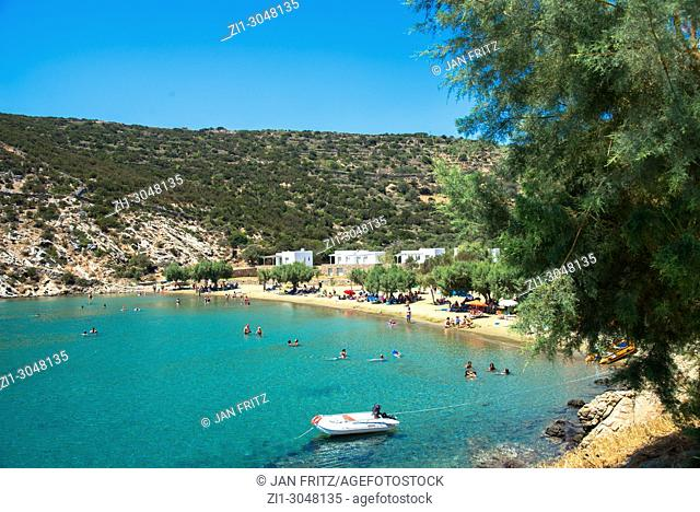 view at the bay of Panagia at Sifnos, Greece
