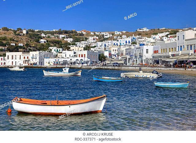 Fishing village, Chora, Mykonos, Cyclades, Greece / Aegean Sea, Agios Nikolaos tis Kadenas