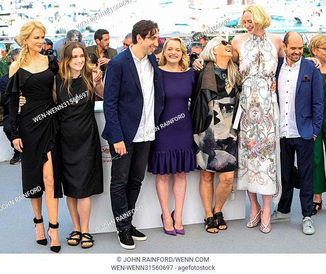 Nicole Kidman, Alice Englert, Ariel Kleiman, Elisabeth Moss, Jane Campion, Gwendoline Christie and Jamie Kousetta attending the photocall for the second season...