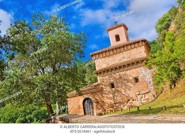 Monastery of San Millán de Suso, S. VI, San Millán de La Cogolla Monasteries, UNESCO World Heritage Site, San Millán de la Cogolla, La Rioja, Spain, Europe
