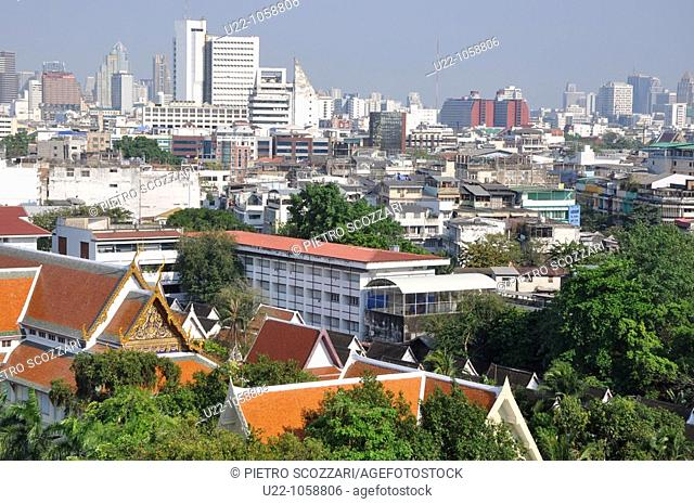 Bangkok (Thailand): landscape of the city, seen from the top of the Golden Mount