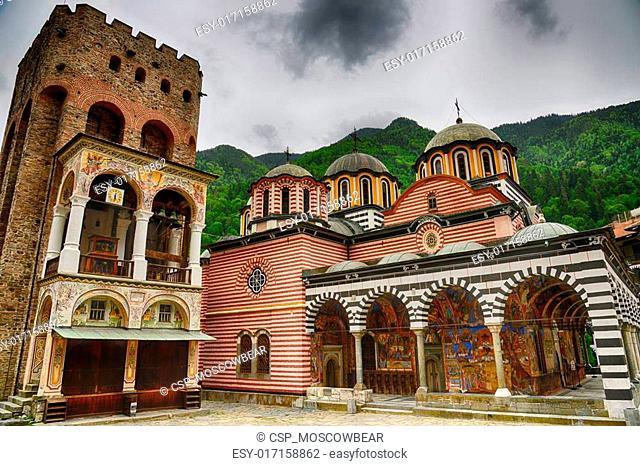 Rila Monastery.The largest Orthodox monastery in Bulgaria.HDR image