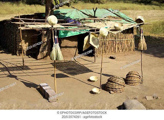 Bhil hut, Bhil Tribe, Madhya Pradesh, India