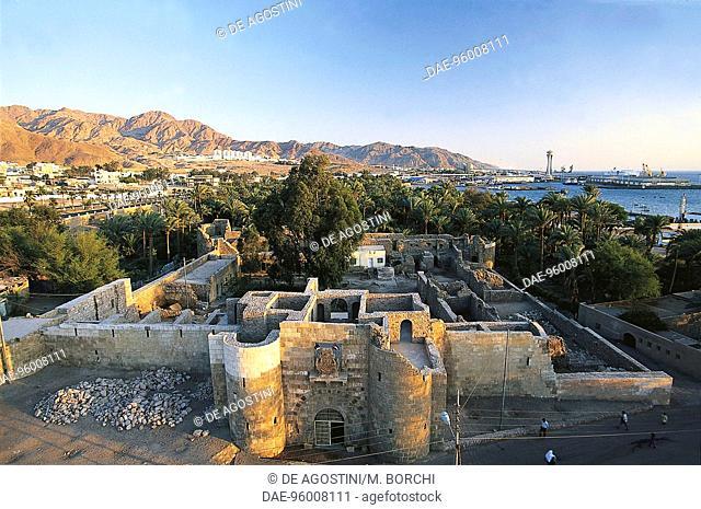 Aqaba fort, 1510-1517, seen from the minaret, Jordan, 16th century